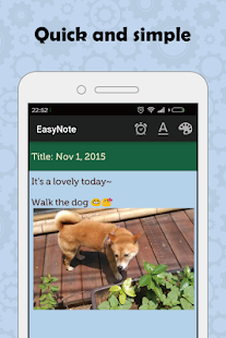 EasyNote - Notepad widget - náhled