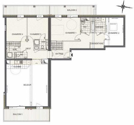 Vente appartement 5 pièces 125,25 m2