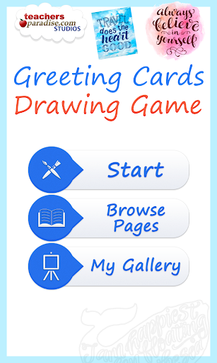 Greeting Cards Drawing Game
