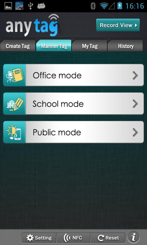 Скриншот AnyRead NFC Tag Writer