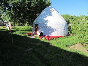 Photo: The yurt where we slept