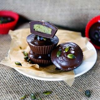 Dark Chocolate Pumpkin Seed Butter Cups