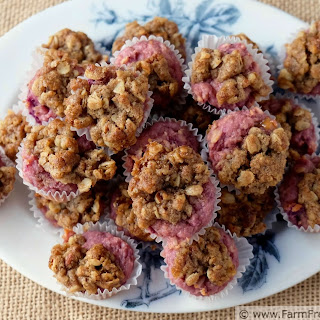 Purple Sweet Potato Muffins with Caramel and Streusel #MuffinMonday