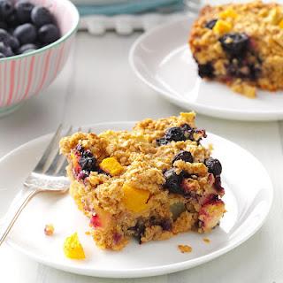 Blueberry & Peach Oatmeal Bake
