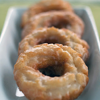 Sour Cream Old-Fashioned Doughnuts with Vanilla Glaze