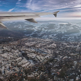 Secaria.. by Laurentiu Barbu - Landscapes Mountains & Hills ( color, city, edit, drone photo, clouds, sun, drone, building, mountain, airplane, sunset, landscape, colorful,  )