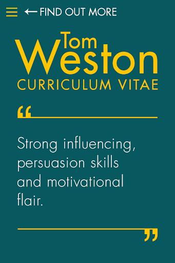 Tom Weston Curriculum Vitae