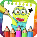 Coloring Minion Book Pages