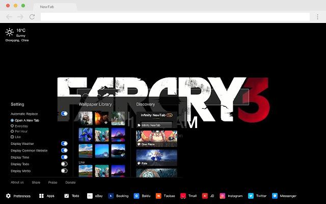 Far Cry 5 Pop HD Games New Tabs Theme