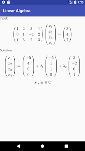 Linear Algebra Calculator Apk 2