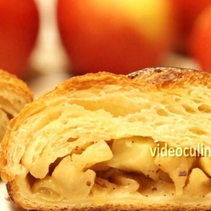 Braided Apple Filled Danish Coffee Cake Recipe