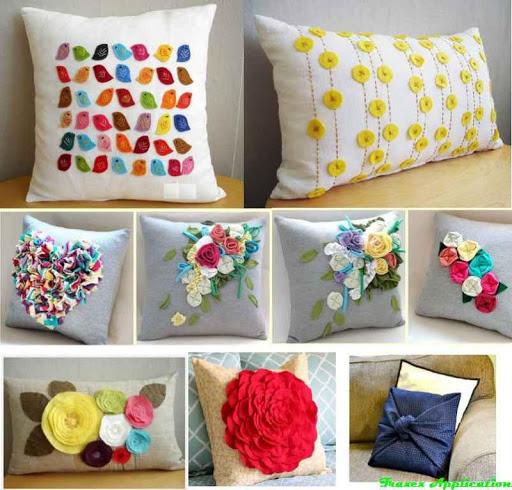 DIYの装飾的な枕のアイデア