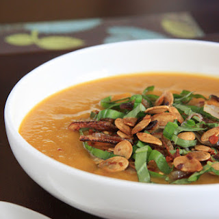 Spicy Pumpkin Soup with Lemongrass and Coconut Milk.