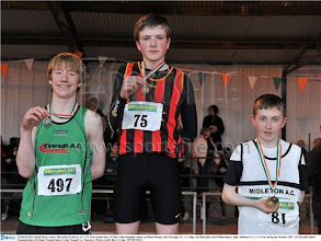 Photo: Daniel Ryan, Moycarkey Coolcroo A.C. winner of the Boys U/14 Long Jump with a new National Record.