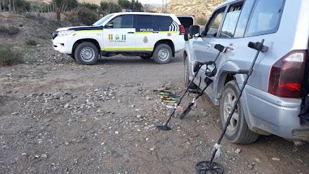 Detectores de metales intervenidos por la Policía Autonómica