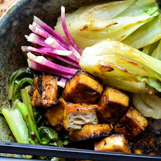 Five-Spice Baked Tofu with Seared Bok Choy Recipe