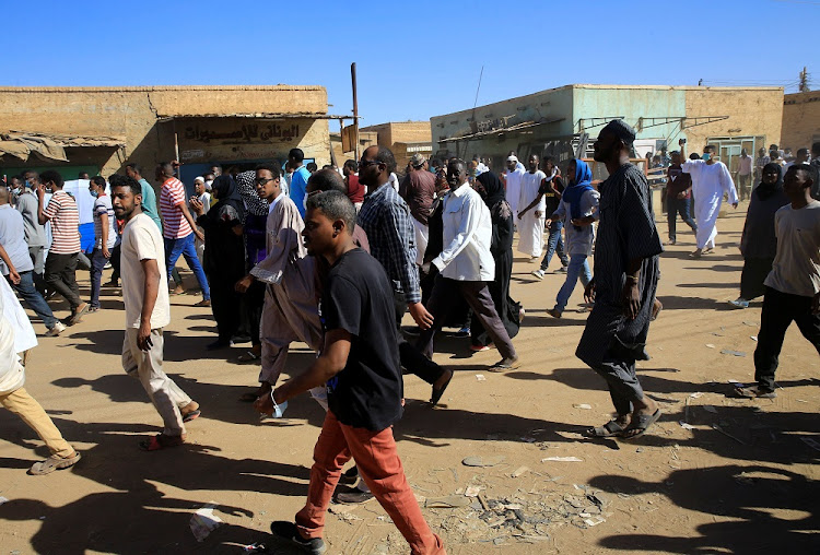 Sudanese demonstrators march along the street during protests after Friday prayers in Khartoum, Sudan, January 11 2019. Picture: REUTERS/MOHAMED NURELDIN ABDALLAH