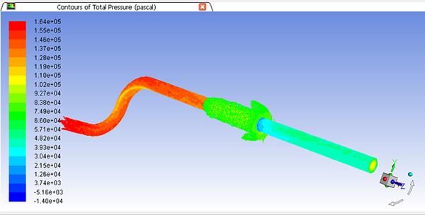 ANSYS - Расчет давления в выхлопной трубе во Fluent