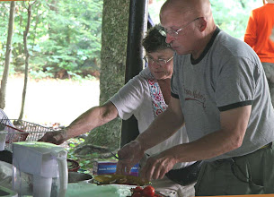 Photo: Betsy & Steve - prepare a meal
