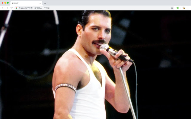 Freddie Mercury HD New Tab Stars Themes