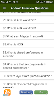 Interview Questions Android - náhled