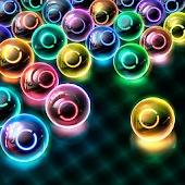 Magnetic balls: glowing neon