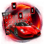 Red Speed Car Keyboard Theme