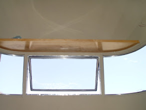 Photo: shelf over front window to carry projector
