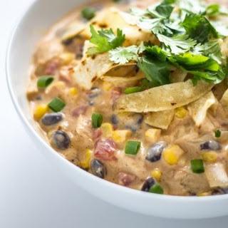 30 Minute Creamy Chicken Enchilada Soup.