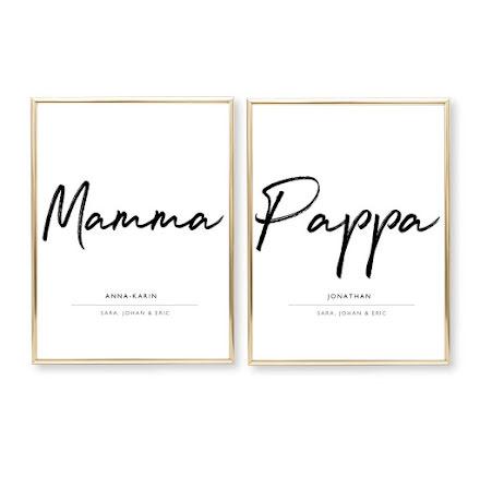 MAMMA OCH PAPPA 2 POSTERS