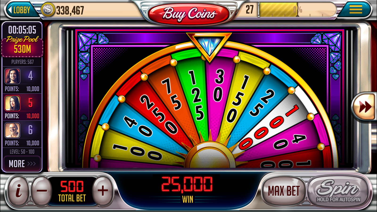 best slots to play in downtown vegas