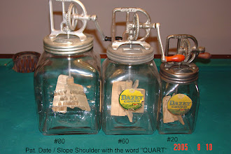 Photo: Pat.Date/Slope Shoulder Embossed  With The Word (QUART) #80,#60,#20 (only sizes) Mfd.1922-1950's DAZEY'S