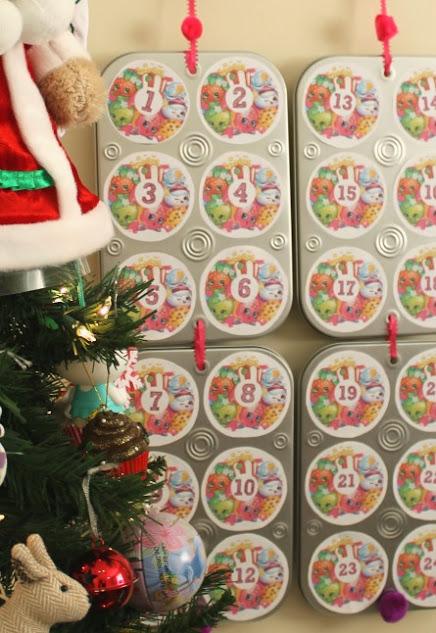 Make My Easy DIY Shopkins Advent Calendar + Free Templates