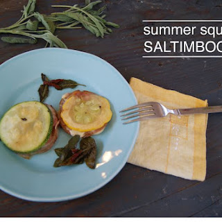 Summer Squash Saltimbocca