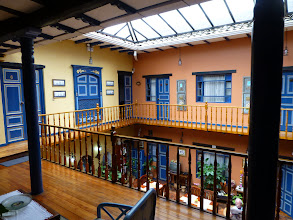 Photo: First floor of the Posada del Angel hotel