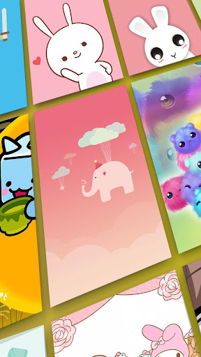 Screenshot for Kawaii Wallpaper, Cool, Cute Backgrounds: Cutely in Hong Kong Play Store