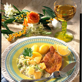 Curried Cod Fillet with Creamed Cabbage.