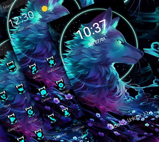 Dark Night Magic Wolf Theme 1.1.1 screenshots 3