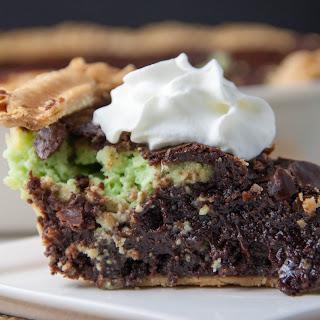 Mint Cream Cheese Brownie Pie