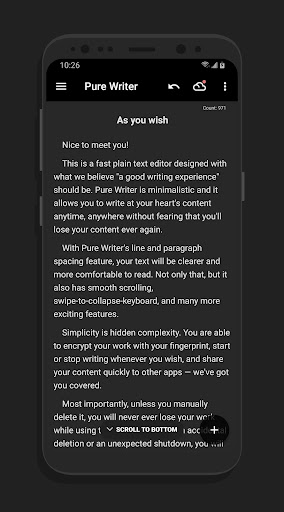 Pure Writer - Never Lose Content Editor & Markdown Apk 1