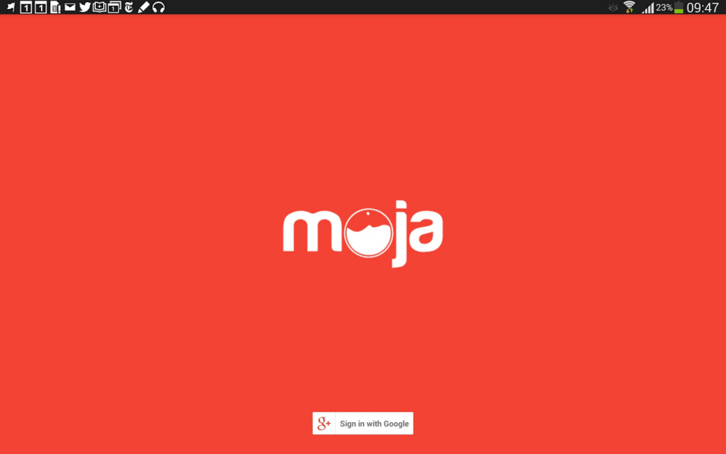 Moja- screenshot