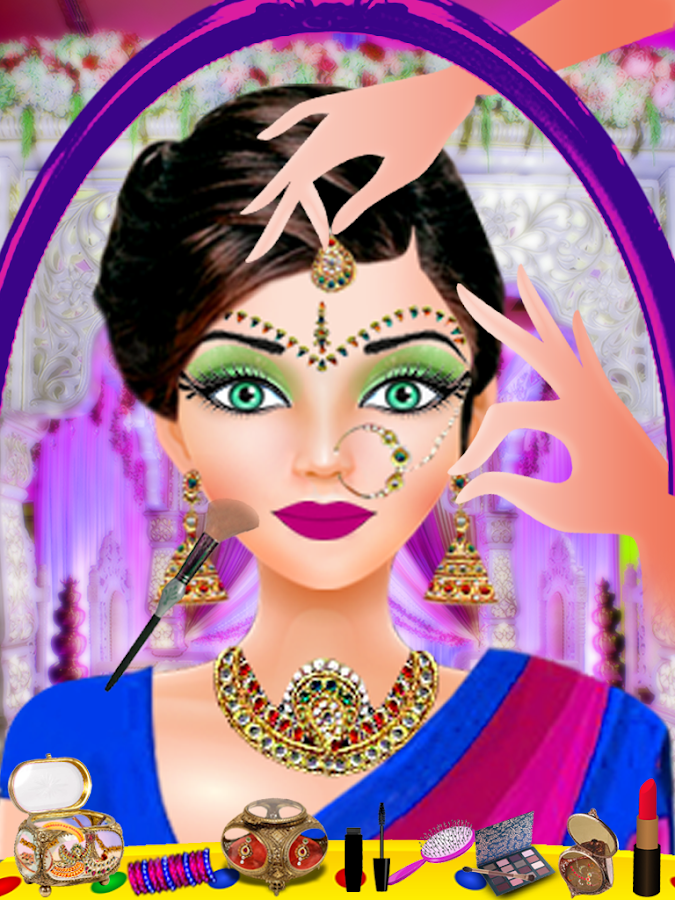 Indian Wedding Salon Fashion Doll Games Screenshot