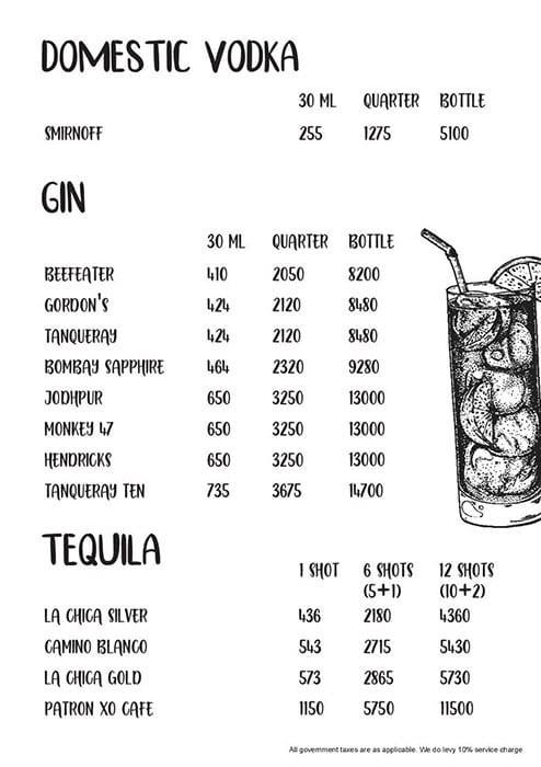 Tamasha menu 3