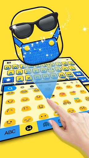 Cartoon Yellow Me Keyboard Theme 1.0 screenshots 2