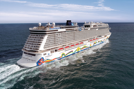 ncl_Encore_aerial_aft.jpeg - Set sail on  Norwegian Encore for getaways to the Caribbean and Alaska.