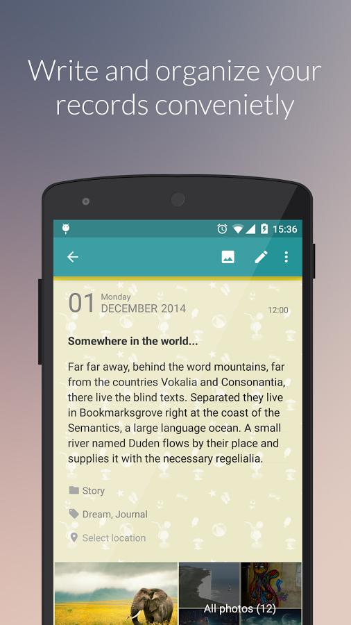 Diaro - Diary, Journal, Notes, Mood Tracker Screenshot 1