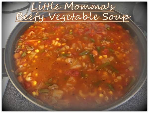Little Momma's Beefy Vegetable Soup