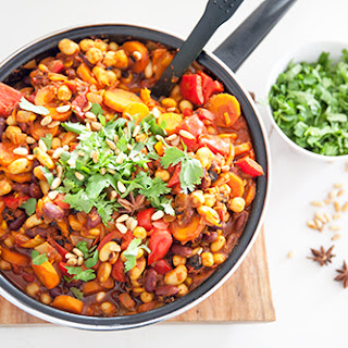 Vegan Moroccan Spiced Beans.