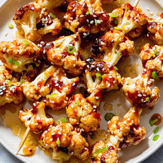 General Tso's Grilled Cauliflower Kabobs.