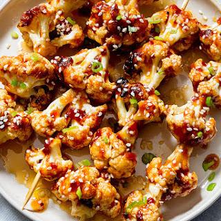 General Tso's Grilled Cauliflower Kabobs.